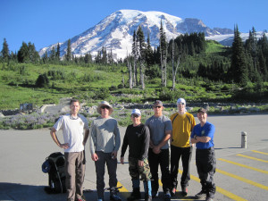 Jake Hanes and Team Climbing Mt Rainier