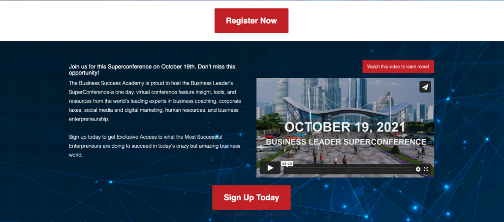 Sign Up Now for Business Leader SuperConference